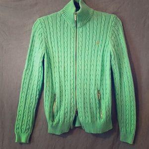 Ralph Lauren Cotton sweater dual zip medium EUC